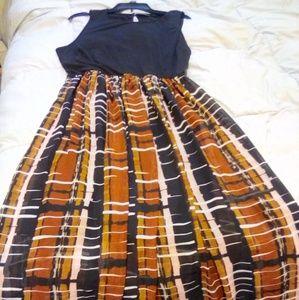 Apt. 9 Sleeveless Keyhole Back Layered Maxi Dress